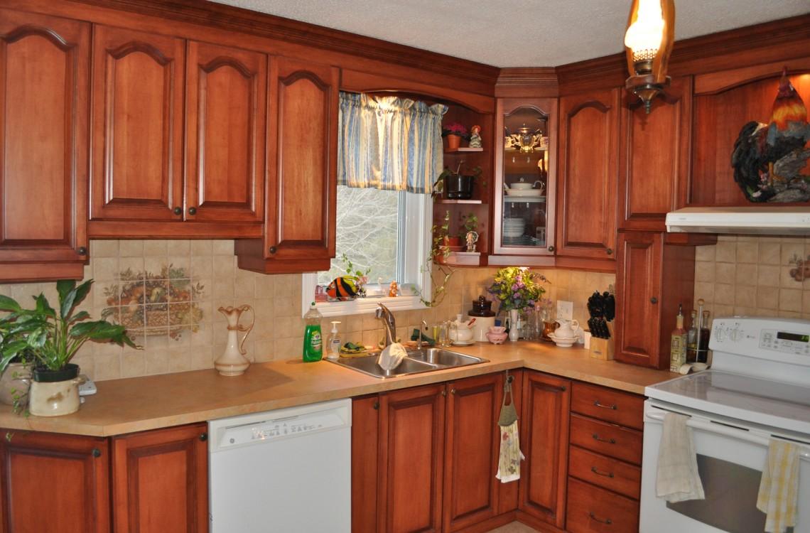 Comptoir bois cuisine affordable dessus de comptoir en - Comptoir de cuisine noir ...
